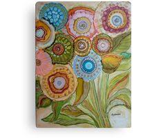 """""""Whimsical Bouquet"""" -Colorful Unique Original Artist's Floral Design! Metal Print"""