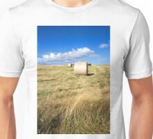 Hay bales in a field in Wiltshire, United Kingdom Unisex T-Shirt