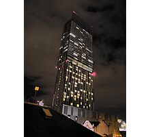 Beetham Tower Manchester's tallest skyscraper Photographic Print