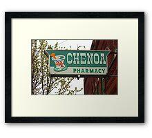 Route 66 - Chenoa Pharmacy Framed Print