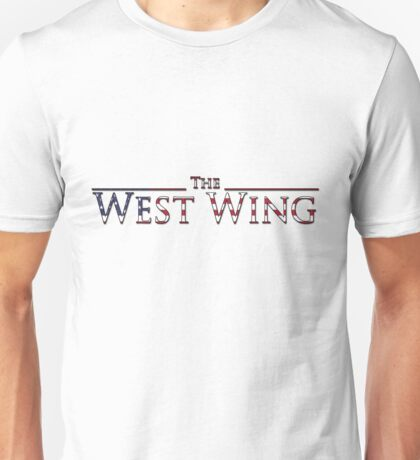 The West Wing Logo with American Flag Design Unisex T-Shirt