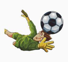 Goalkeeper jump to ball One Piece - Short Sleeve
