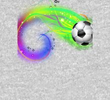 Soccer ball on colorful lightning way Unisex T-Shirt