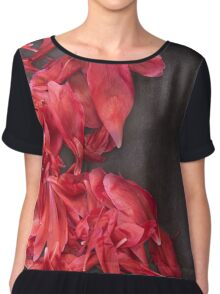 Floral Background Chiffon Top