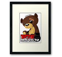 Fighter Bear Tedy Doll can Fight MMA Bear Fighter Shirt Mix Martial Art Framed Print