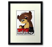 Fighter Bear Tedy Doll can Fight MMA Bear Fighter Shirt Mix Martial Art Framed Print
