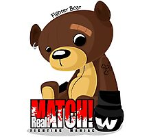 Fighter Bear Tedy Doll can Fight MMA Bear Fighter Shirt Mix Martial Art Photographic Print