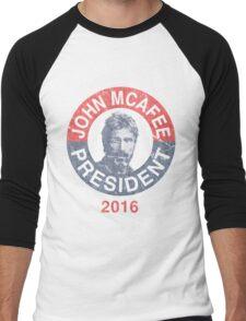 Vintage John McAfee for President 2016 Men's Baseball ¾ T-Shirt