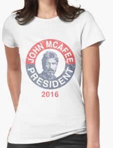 Vintage John McAfee for President 2016 Womens Fitted T-Shirt