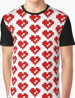 Pixel Heart 8 Bit Love Graphic T-Shirt
