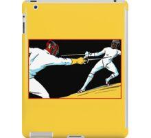Fencing retro vintage style drawing iPad Case/Skin