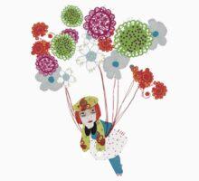 Flowers take me away! One Piece - Short Sleeve