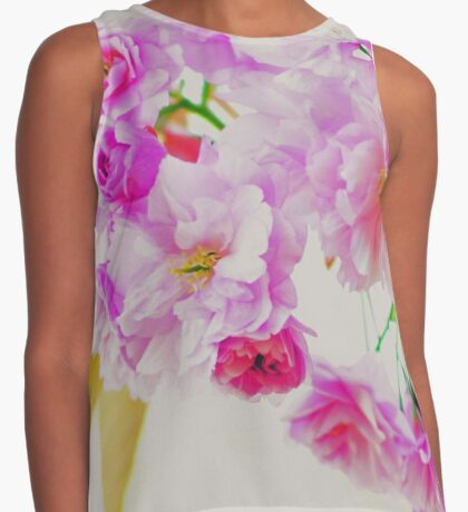 pink cherry blossoms Contrast Tank