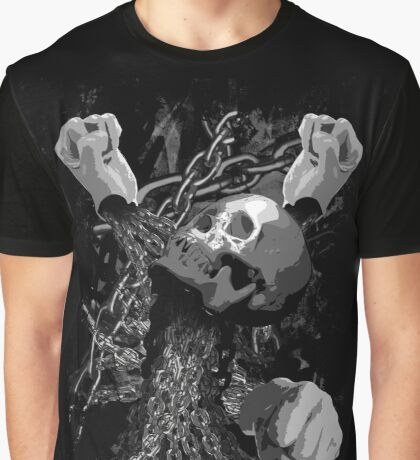 Pit Fighter Skull Chain MMA Mixed Martial Art  Graphic T-Shirt