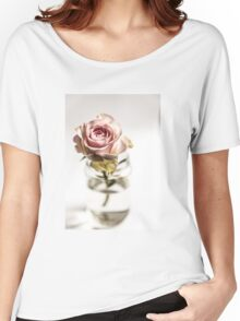 pink rose,  Women's Relaxed Fit T-Shirt
