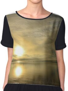 Sunset across the Moray Firth Chiffon Top