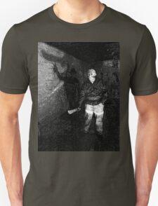 Jason in his Barn Unisex T-Shirt