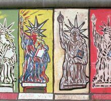 Berlin Wall Statue of Liberty graffiti Sticker