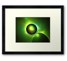 Green Galaxy Framed Print