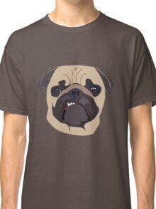 cute digital pug Classic T-Shirt