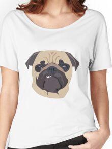 cute digital pug Women's Relaxed Fit T-Shirt