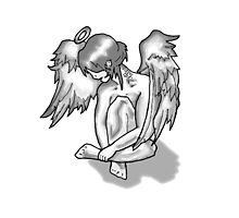 Lonely Angel Photographic Print