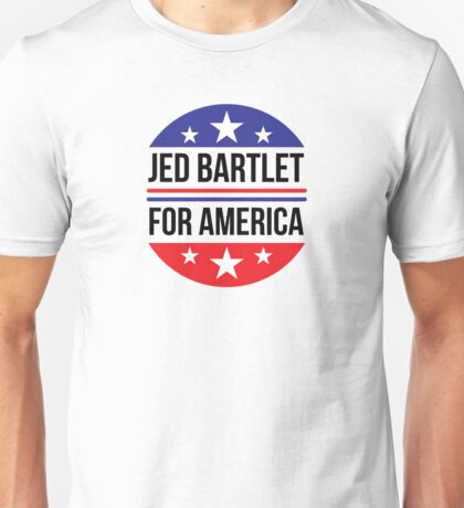 Re-Elect  Jed Bartlet - Circle Unisex T-Shirt