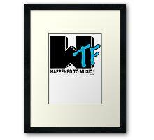WTF tv Framed Print