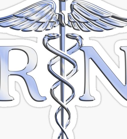 Registered Nurse Medical Caduceus Sticker