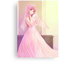 Yuno Gasai Wedding Gown Canvas Print