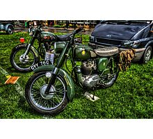 BSA Motorcycles Photographic Print