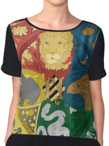 Hogwarts Crest Tapestry Full Color Chiffon Top