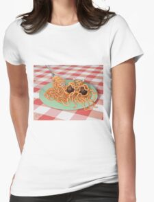 The Rise of the Spaghetti Monster Womens Fitted T-Shirt