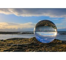 Blue Glass Ball Photographic Print