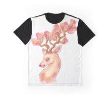 Cherry blossom deer Graphic T-Shirt