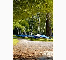Sailing Boats at Shearwater Lake, Crockerton, Wiltshire, United Kingdom. Unisex T-Shirt
