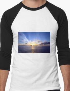 Sunset at Sea Men's Baseball ¾ T-Shirt