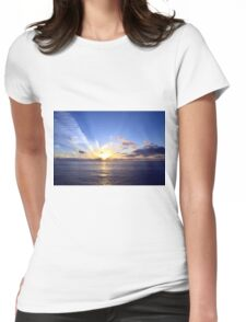 Sunset at Sea Womens Fitted T-Shirt