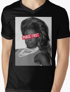 purse first!! Mens V-Neck T-Shirt