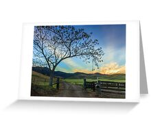 At the Gate - Gloucester NSW Australia Greeting Card