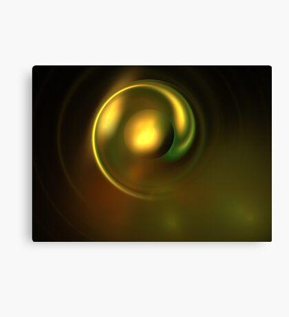 Metal Green Disk Canvas Print