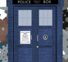 The TARDIS, a flight through Time Sticker