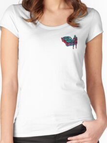 1966 MUSTANG FASTBACK MASKED WOMAN ELECTRIFYING  Women's Fitted Scoop T-Shirt