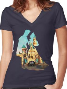 Princess Character Inspired Home Women's Fitted V-Neck T-Shirt