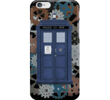 The TARDIS, a flight through Time iPhone Case/Skin