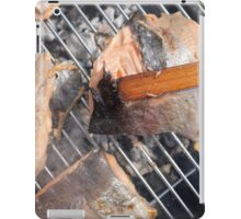 Fresh pork meat with vegetables iPad Case/Skin
