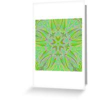 Rainy Day Green Mandala Greeting Card