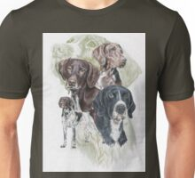 German Short-Haired Pointer /Ghost Unisex T-Shirt