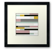Retro Texture Pattern Framed Print