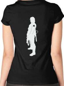 What Bucky Clause? (dark shirts) Women's Fitted Scoop T-Shirt